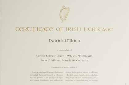 CertificateofIrishHeritage