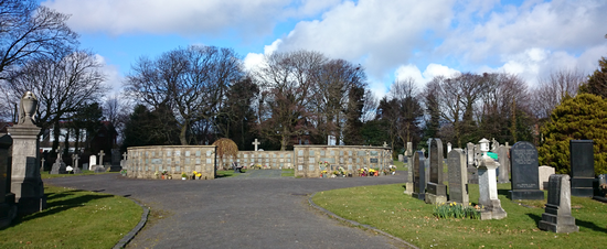 Above: Poulton le Fylde Cemetery, Moorland Road, one of four cemeteries managed by Wyre Council with all records now on Deceased Online