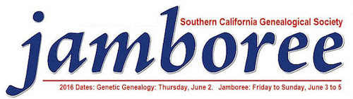 2016_Annual Southern California Genealogy Jamboree_Banner