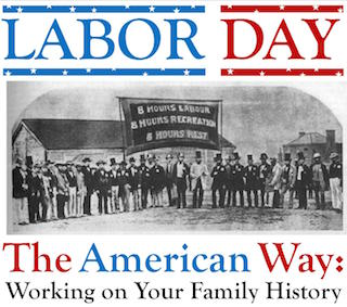Labor day - promo concept for web pages