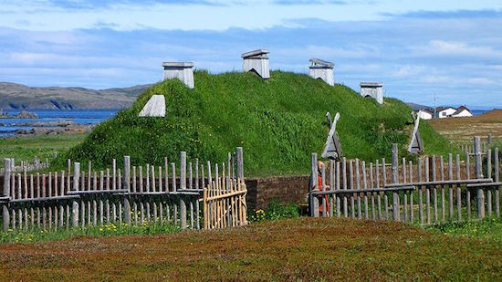 Modern-day recreation of the Norse settlement at Anse aux Meadows