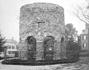 Photo of the Newport Tower taken in 1894