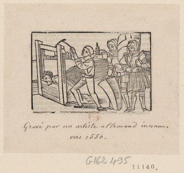 Exécution capitale à l'aide d'une guillotine