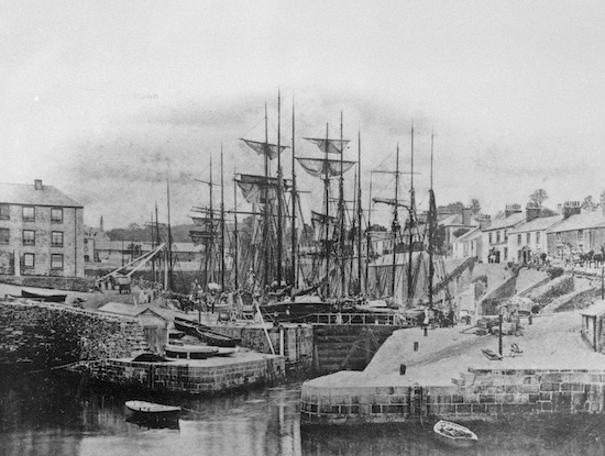 Tall masted ships in Charlestown harbour - Click on the above image to view a larger version.