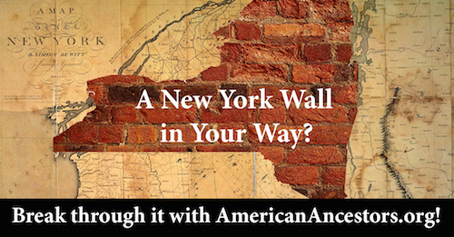 NEHGS Free Access to New York databases on AmericanAncestors.org