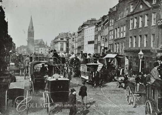 Whitechapel High Street- looking east about 1890