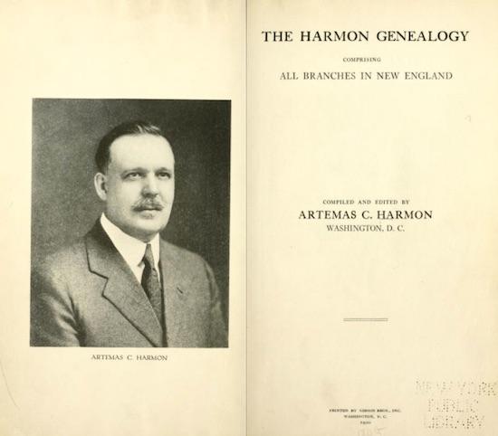 harmon-genealogy