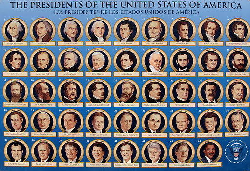 Presidential ancestry eastman 39 s online genealogy newsletter for Pictures of all presidents of the united states in order