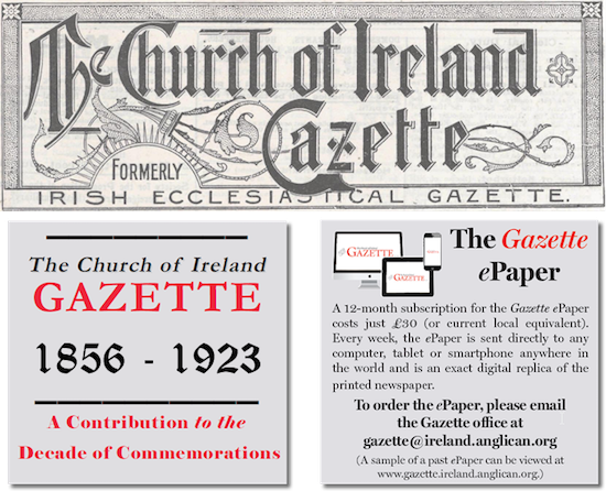 19th-century Editions of the Church of Ireland Gazette Have