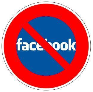 Image result for no facebook sign