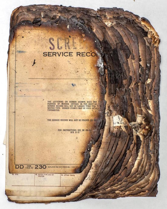 U S  National Archives Recalls Fire That Claimed Millions of