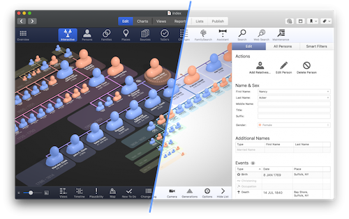 Synium Software Releases a New Update of MacFamilyTree and of