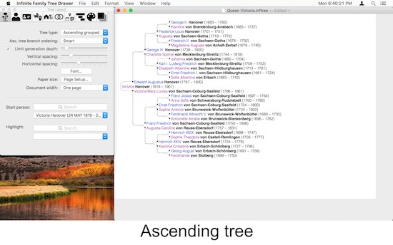 Infinite Family Tree Drawer – a New App in the Macintosh App Store
