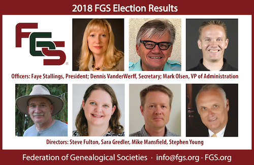 fgs announces election of new officers and directors
