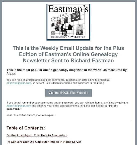 Plus Edition Newsletter Has Been Sent | Eastman's Online